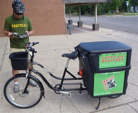Pizza Delivery Bike Rack by Fratelli S Electric Pizza Delivery Bike On The