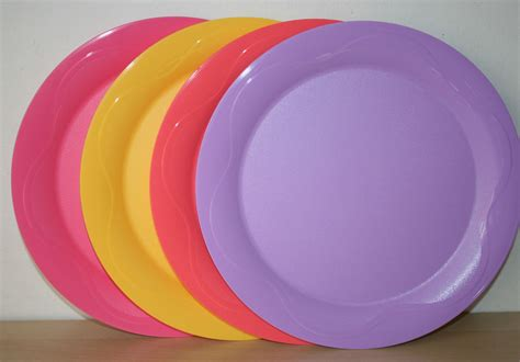 Tupperware Plate tupperware open house dinner plates 11 quot set 4 multicolored
