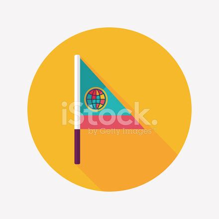 flag flat icon with long shadow stock vector freeimages.com