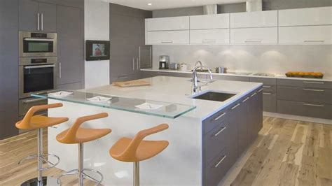 kitchen design large square island in this high end