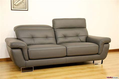 divano moderno in pelle divano moderno 3 posti grigio in vera pelle in occasione
