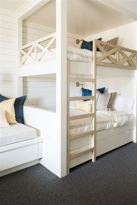 bunk rooms ideas  pinterest bunk bed rooms