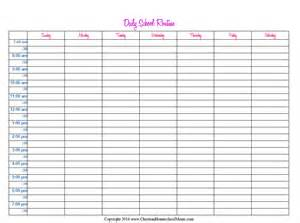 homeschooling schedule template 6 best images of printable homeschool daily schedule