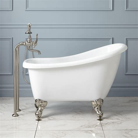 43 quot carter mini acrylic clawfoot tub bathroom