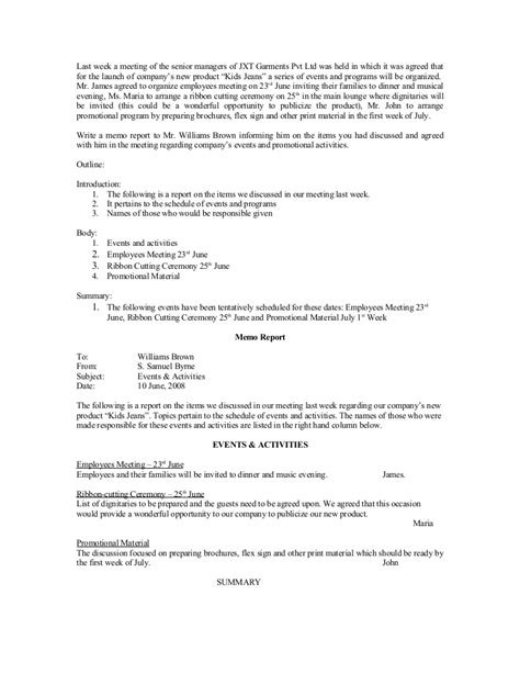 memo report template meeting memo introductory memo state