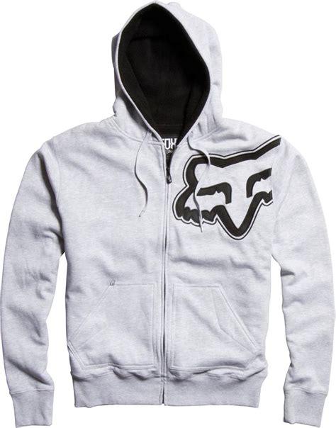 Hoodie Zipper Fox 3 Jidnie Clothing new fox racing durban sherpa zip hoody grey 02149 all sizes hoodie ebay