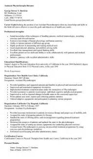 physical therapy resume template physical therapy assistant resume the best letter sle