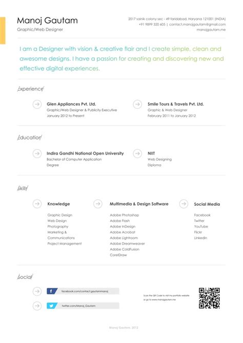 Interesting Resume Designs by 31 Best Cv Interesting Design Images On Resume