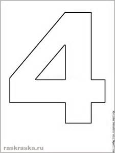 Book Of Numbers Outline by Printable Four Outline Image Four For Print Numeral For
