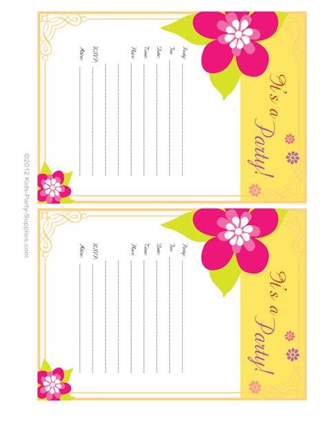 hawaiian party invitations free printable pool party