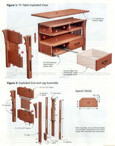craftsman furniture plans arts crafts tv stand plans woodarchivist