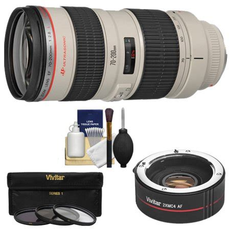 canon ef 70 200mm f/2.8l usm zoom lens with 2x