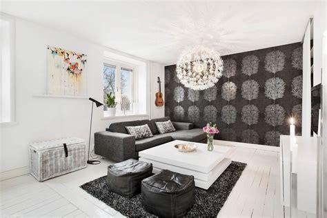 Tapeten Wohnzimmer Beispiele by Tapete In Schwarz F 252 Rs Wohnzimmer 25 Ideen Und Beispiele