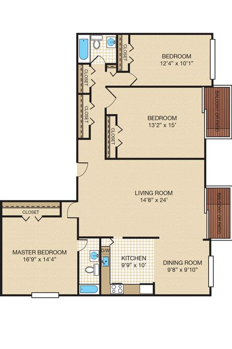 bedroom floor plans three bedroom apartment townhome floor plans portabello apartments oxon