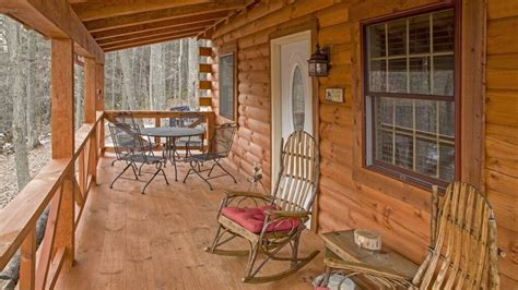 cabin porch log cabin cooking quot new quot hidden gem retreat log cabin carefree cabins llc