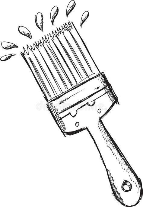 doodle paint draw doodle paint brush vector stock vector illustration of