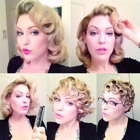 how to do vintage hairstyles pinterest vintage pin curls whoaaa beautiful