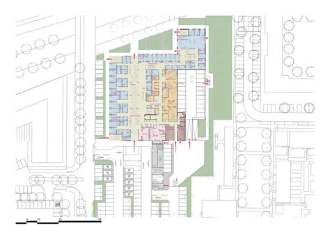 general hospital floor plan circle reading hospital brydenwood archdaily