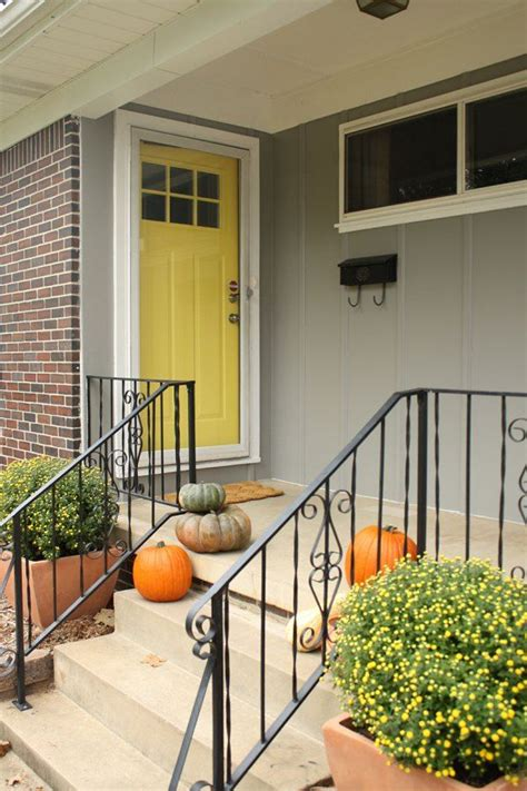 gray house yellow door gray house yellow door for the home pinterest