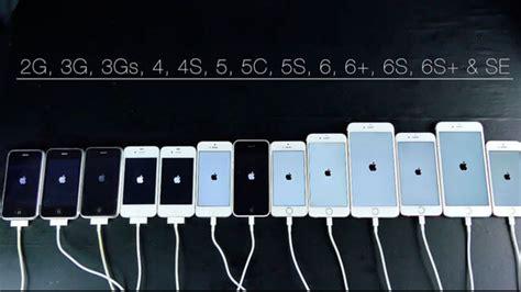 prueba de velocidad de todos los iphone version