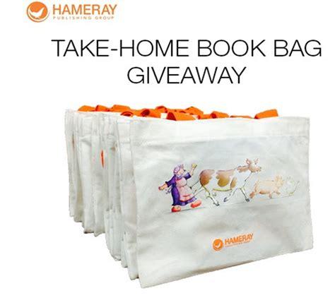 Book Bag Giveaway - hameray take home book bag giveaway