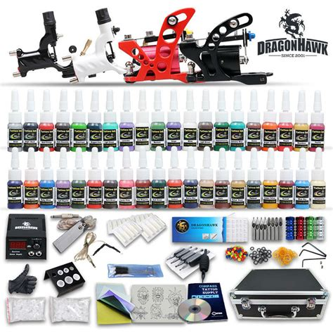 tattoo kit light in the box complete tattoo kit 4 pcs rotary tattoo machines 40 tattoo