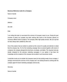 Business Letter Format With Reference 6 Business Reference Letter Templates Free Sample