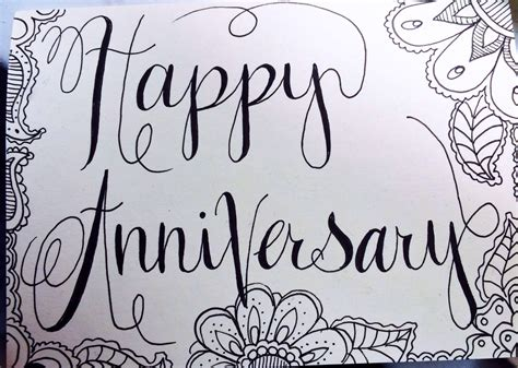doodle anniversary anniversary card doodles tea