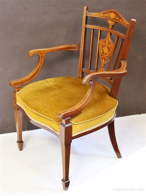 mahogany armchair edwardian inlaid mahogany armchair antiques atlas