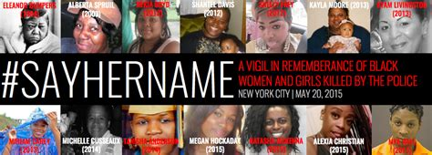 names of black women killed by police in 2015 say her name remembering women of color killed and