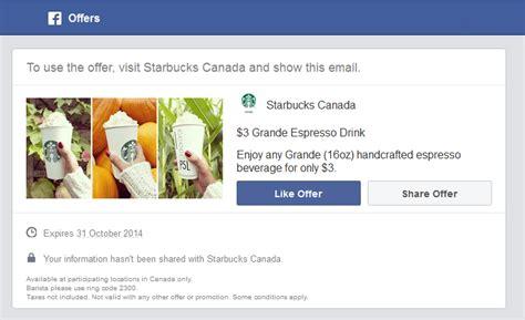 Starbucks Handcrafted Espresso Beverage - starbucks canada coupon enjoy any grande 16oz