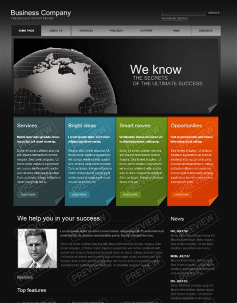 business websites templates best photos of business website templates