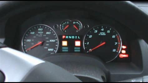 2008 chevy light 2008 chevy equinox dash view cold start