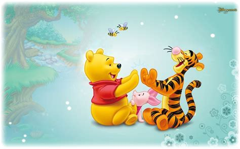 disney wallpaper pooh goodnight vintage blue tigger piglet and winnie the pooh baby cartoon disney hd