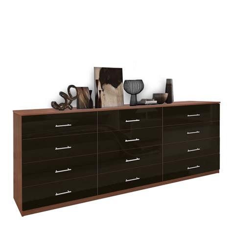 modern  drawer triple dresser contempo space