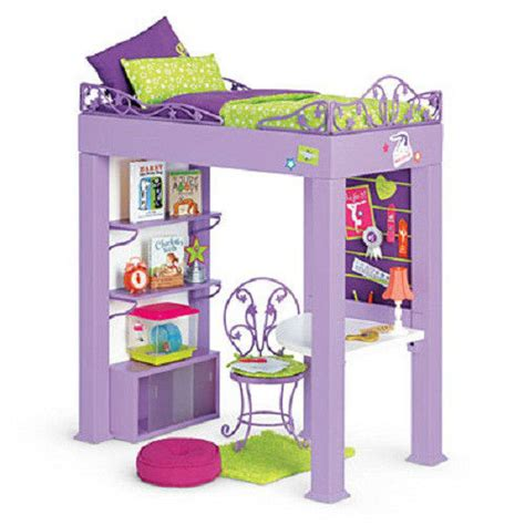 american girl loft bed american girl mckenna s loft bed set desk bedding pillow