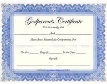 godparent certificate template free printable god parents certificates