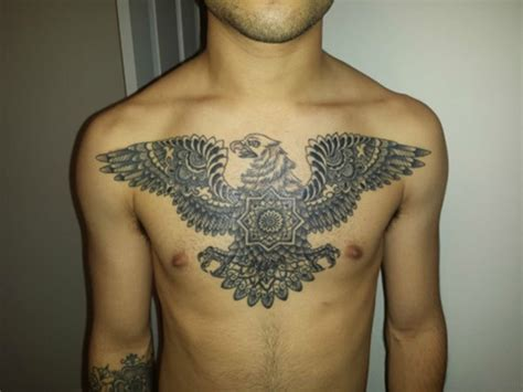eagle chest tattoos 41 realistic eagle tattoos on chest