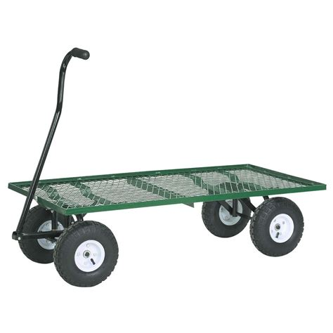 Harbor Freight Garden Cart steel mesh deck utility wagon
