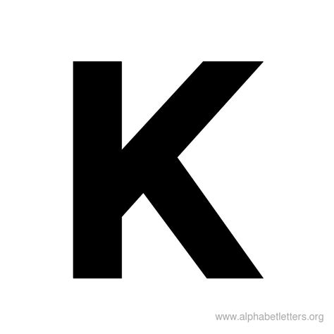 Letter K bold shaped letter alphabets alphabet letters org
