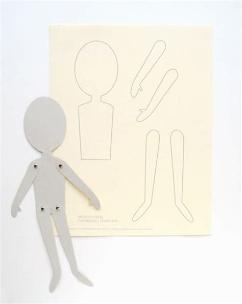 printable jointed paper doll diy articulated paper dolls handmade charlotte