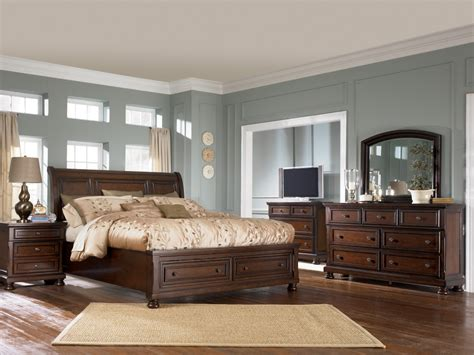 king sleigh bedroom set porter king sleigh bed item series b697 ogle furniture