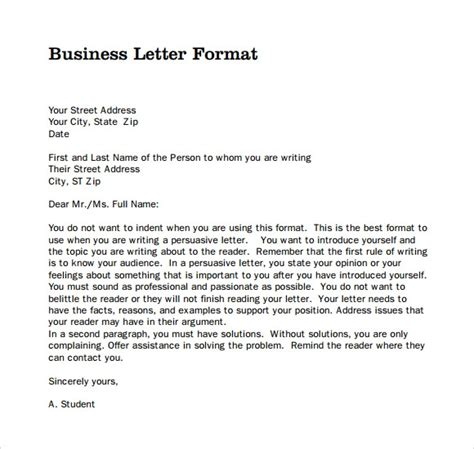 official letter templates ms word