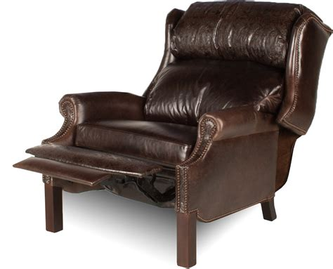 leather and wood recliner living room leather creations leather recliners with