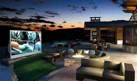 outdoor inspiration backyard home cinema portraits of