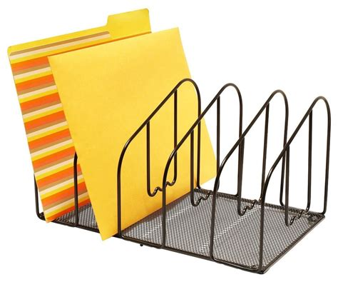 file rack for desk new desk file folder holder letter sorter rack organizer