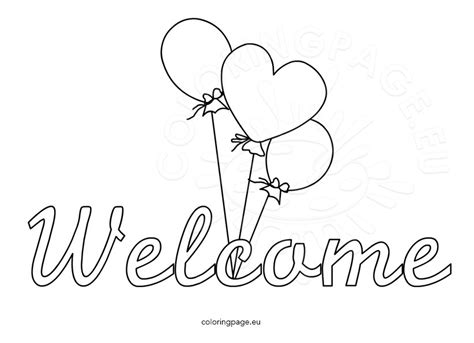 Welcome Coloring Page welcome sign coloring page coloring pages