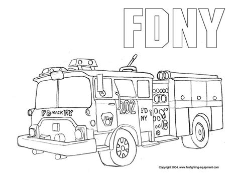 coloring page of a fire truck fdny fire truck coloring pages free printable enjoy