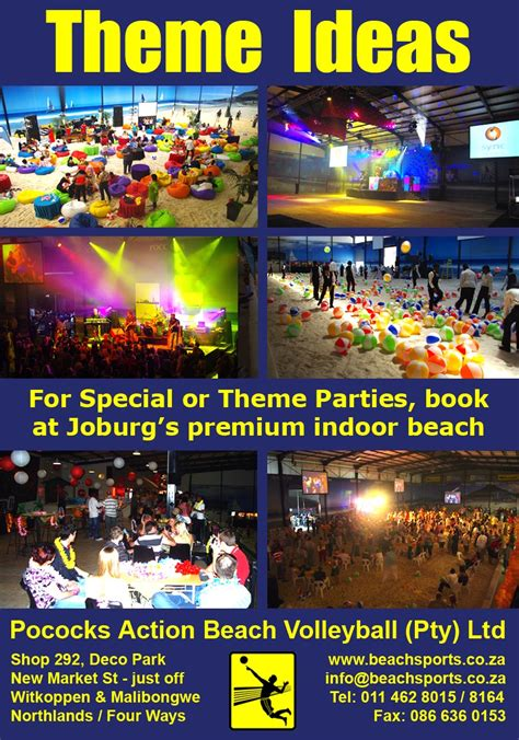 themed party venues cape town themed events pococks indoor beach volleyball