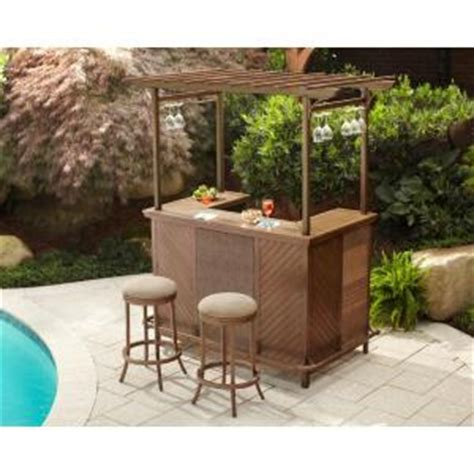 hton bay decker 3 patio pergola bar set l